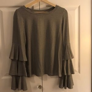 Tops - Tier Bell Sleeve Blouse